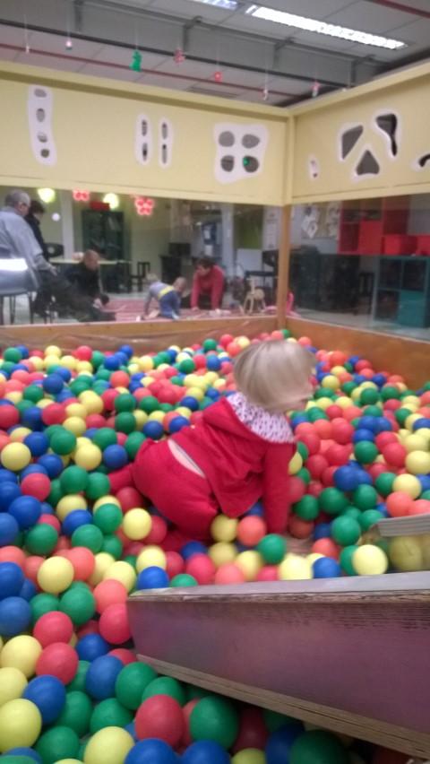 Allasosaston lisäksi leikkihuone viihdytti lapsia.